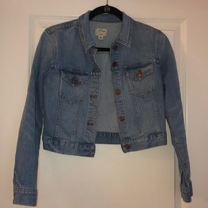 JCrew Cropped Denim Jacket